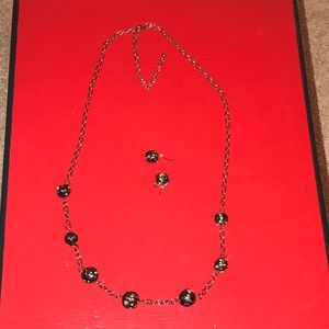 Bronze Chain with Knots & Matching Earrings